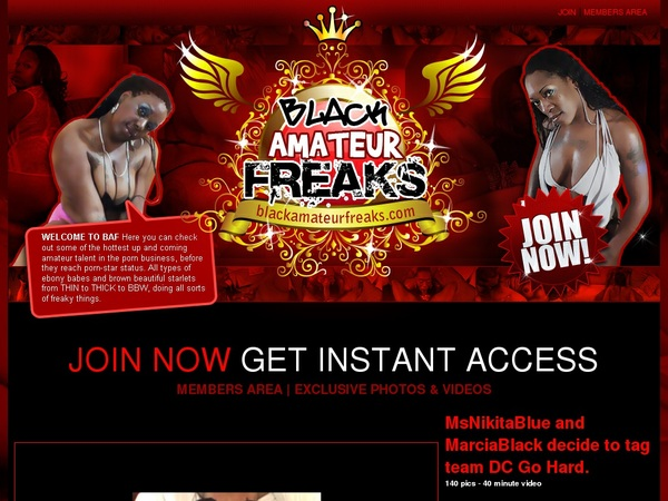 Accounts To Black Amateur Freaks