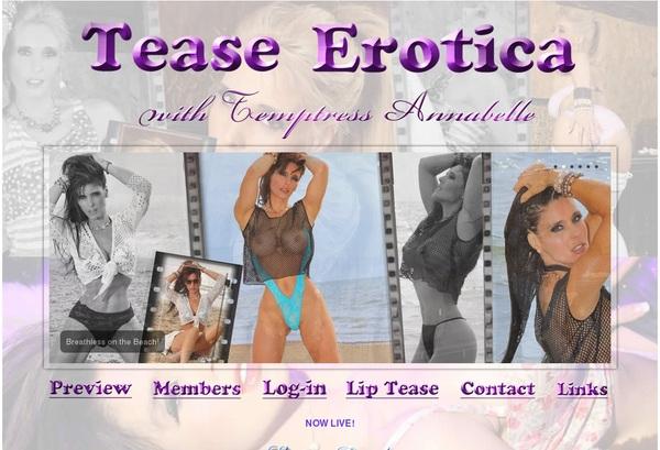Tease Erotica Logins