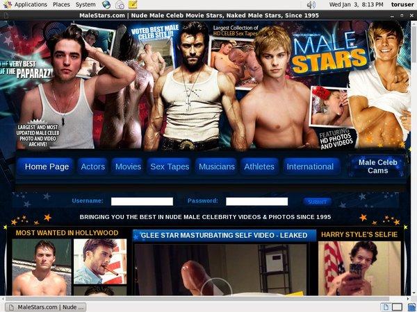 Male Stars Stolen Password