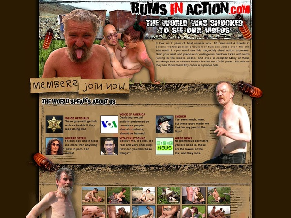 Bums In Action Free Memberships