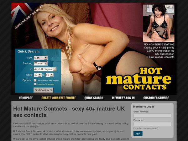 Hot Mature Contacts Stolen Password